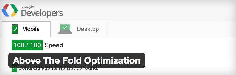 Above the fold optimization