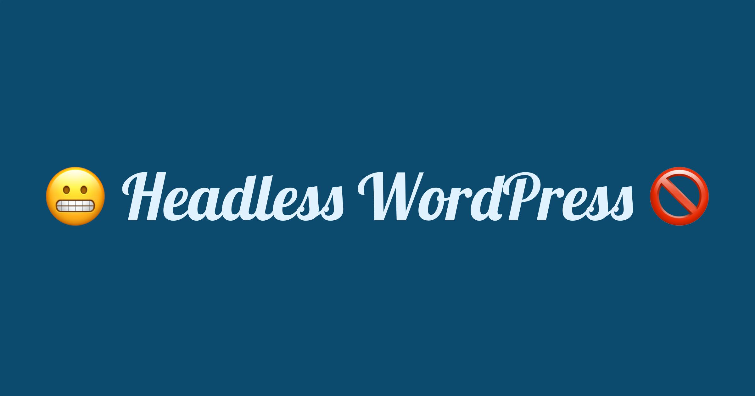 Headless WordPress omslagsbild